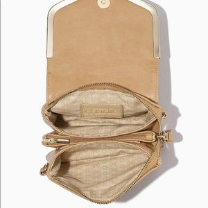 Charming Charlie's tan wallet clutch